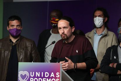 Podemos leader Pablo Iglesias on the night of the Madrid election on May 4.