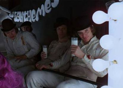 """Stanley Kubrick's A Clockwork Orange, one of the movies with the most """"bad milk"""" in film history."""