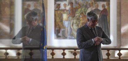 Eurogroup president Mario Centeno in a file photo.