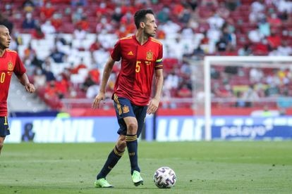 Sergio Busquets at a soccer match in Madrid on June 4.