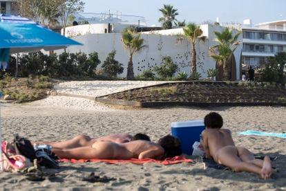 Costa Natura nudist beach in Estepona.