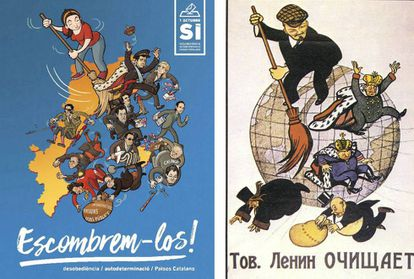 CUP's poster, left, and Lenin, right.