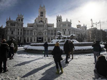 Cibeles Square in Madrid on Sunday.