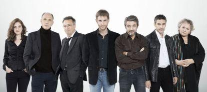 The cast and crew of 'Wild Tales,' from left to right: Julieta Zylberberg, Darío Grandinetti, Oscar Martínez, director Damián Szifrón, Ricardo Darín, Leonardo Sbaraglia and Rita Cortese.