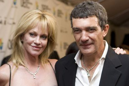 Antonio Banderas and Melanie Griffith when they were still together.