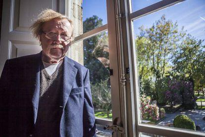 Peter Sloterdijk in Santiago de Compostela, where he picked up the Bento Spinoza prize.