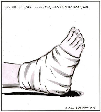 """Broken bones heal, hope does not."" For Manuela Carmena."