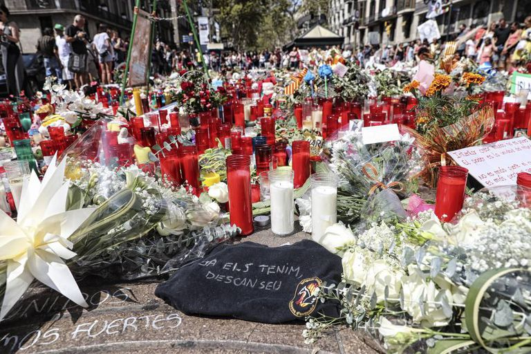 A tribute to the victims of the August 2017 attack in Barcelona.