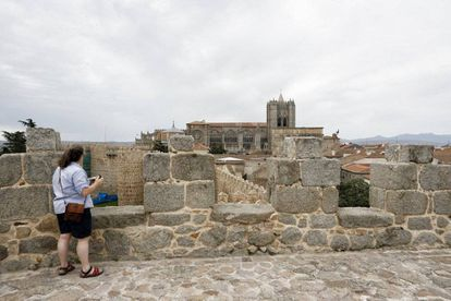 Avila's city wall, where 60 devices have been installed to monitor wear and tear.