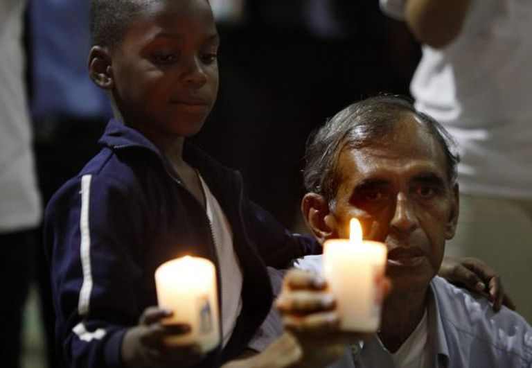 A memorial service is held in Cali, Colombia for victims of the armed conflict.