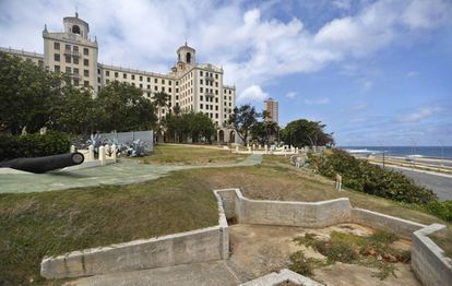 Part of the trench system dug on the grounds of the Hotel Nacional during the Cuban Missile Crisis.