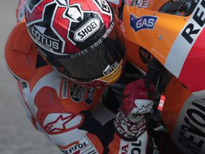 Marc Márquez, the young rookie who is shaking up the order.