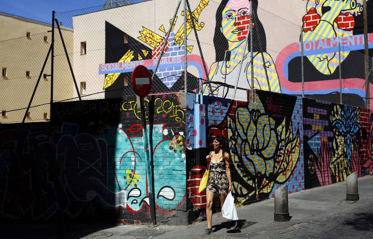 Graffiti on Embajadores street.
