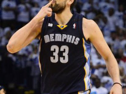 Marc Gasol during the fifth game against Oklahoma City Thunder.