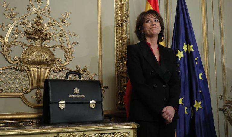 Former justice minister Dolores Delgado.