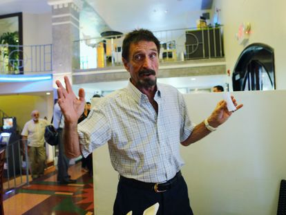 John McAfee, in a file photo from 2013.