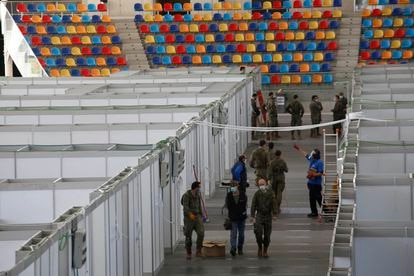 Field hospital in Sabadell, a city in the northeastern region of Catalonia.