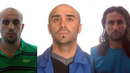 The three suspected members of Al-Qaeda arrested by Spanish police.