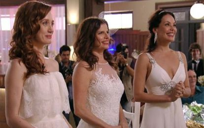 Polygamous marriage has been featured in a Brazilian soap opera (above).