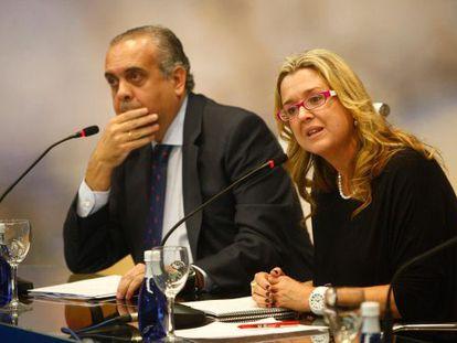Ana Tarrés speaking at the AS forum in Madrid this week.