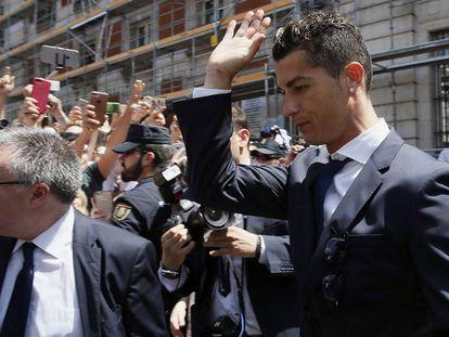 Cristiano Ronaldo in Madrid this week.