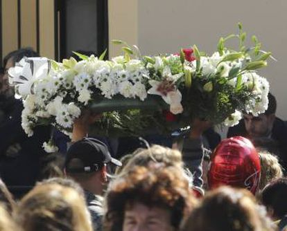 The funeral was held in El Palo, Malaga, on Sunday.