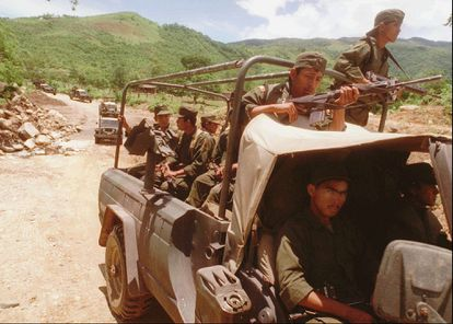 The Mexican army in Guerrero.