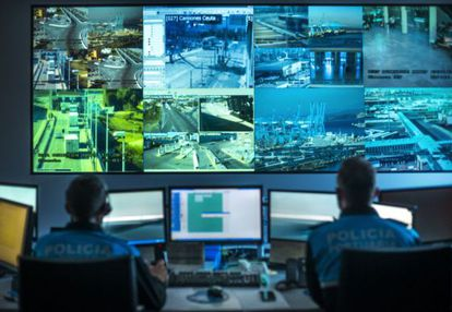 More than 100 cameras and another 100 law enforcement officers watch over Algeciras's port.
