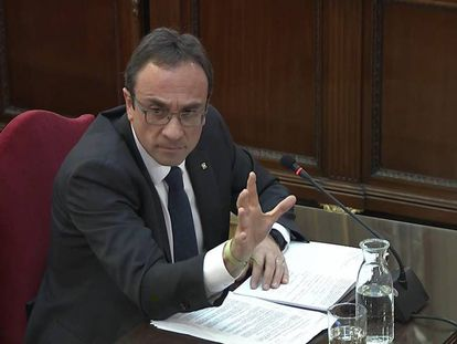 Former Catalan government official Josep Rull at the Supreme Court.