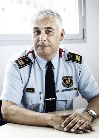 Above, Mayor Ramón Chacón who led the operation that killed Younes. Below, Joan Portals, head of the Barcelona Mossos d'Esquadra.