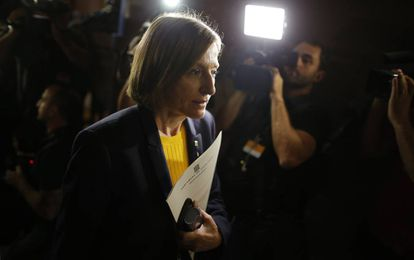 Catalan parliament speaker Carme Forcadell announced a change in the debate start time.