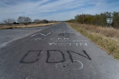 Messages from the Noroeste cartel about the attack on the road that leads to Santa Anita, on the border of the states of Nuevo León and Tamaulipas.