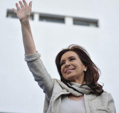 Cristina Fernández de Kirchner, during a recent rally in La Plata, Argentina.