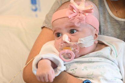 Baby Naiara after the transplant.