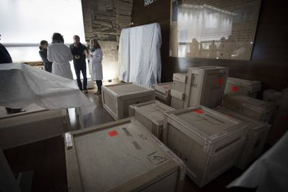Stored in a warehouse, the complete collection of religious art is finally back at the Monastery of Santa María de Sijena.