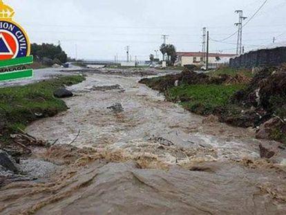 The River Seco, where it passes through Vélez-Malaga.