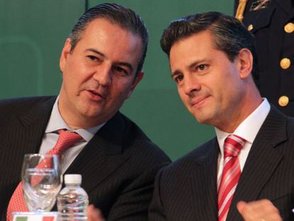 Gutiérrez Candiani with Peña Nieto last june.