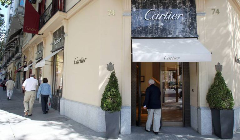 Jewelers Cartier on Madrid's upscale Serrano street.