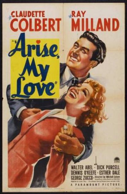 A poster for the movie 'Arise My Love.'