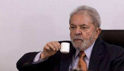 Lula Da Silva during the interview on Thursday.