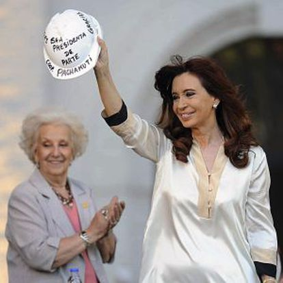 Outgoing President Cristina Fernandez de Kirchner, pictured last week in Buenos Aires.