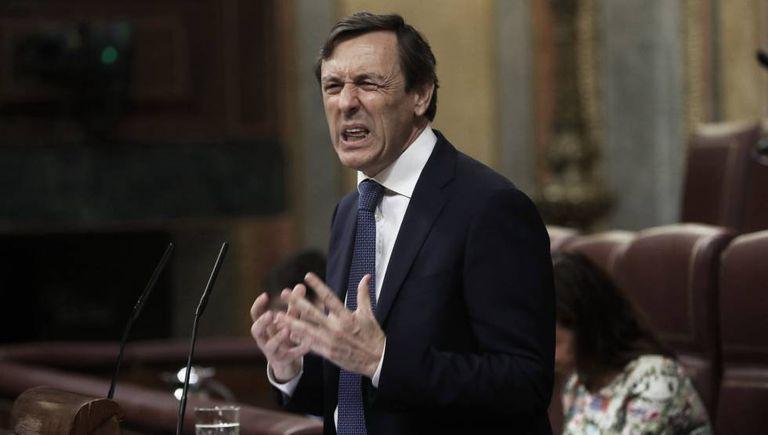 Popular Party spokesperson Rafael Hernando during last week's no-confidence debate.
