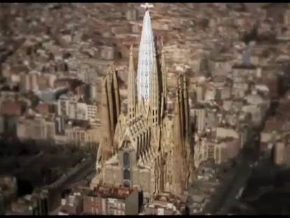 A simulation of the new towers at the Sagrada Familia.