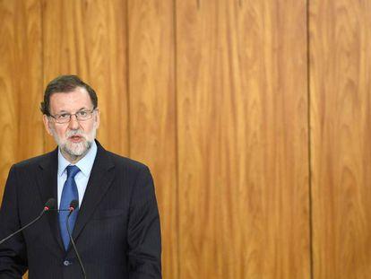 Spanish Prime Minister Mariano Rajoy in Brasilia on Monday.