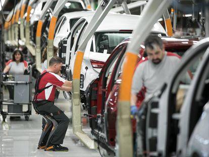 A Seat car factory.