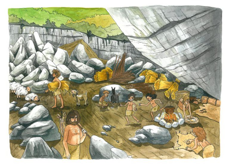 A recreation of Neolithic life at Atapuerca, distributed by Uppsala University.
