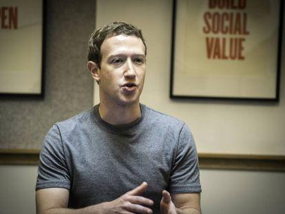 Mark Zuckerberg at Menlo Park.