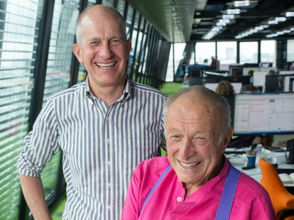 Simon Smithson (left) and Richard Rogers at their London office.