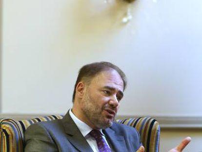 Former Al Jazeera managing director Wadah Khanfar in Madrid on Monday.