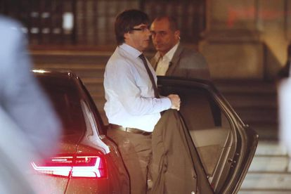 Catalan premier Carles Puigdemont on Thursday morning.